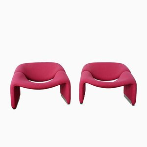 Groovy M-Chairs par Pierre Paulin pour Artifort, 1970s, Set de 2