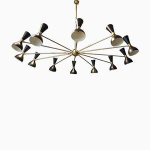 Grand Chandelier Vintage à 24 Lampes, Italie