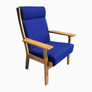 Vintage GE 181 A Lounge Chair by Hans J. Wegner for Getama