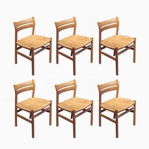 Chaises de Salon BM1 Vintage par Børge Mogensen pour C.M. Fabrikker, Set de 6