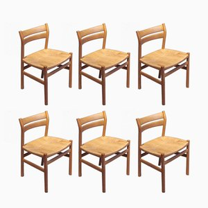 Vintage BM1 Dining Chairs by Børge Mogensen for C.M. Madsen, Set of 6