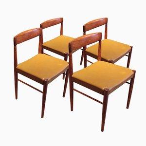Dänische Mid-Century Palisander Esszimmerstühle von H.W. Klein für Bramin, 4er Set