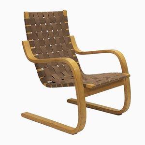 Vintage Modell 406 Lehnsessel von Alvar Aalto für Artek