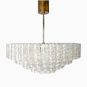 Large Glass Chandelier from Doria, 1960s