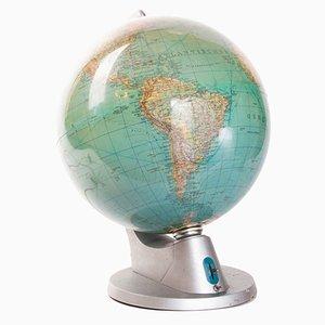 Beleuchteter Deutscher Vintage Duplex Globus von Columbus