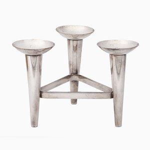 Modernist Dutch Silver-Plated Candleholder, 1960s