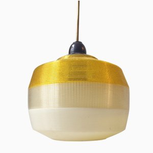 Vintage French Tri-Color Modernist Pendant Lamp by Feifetz Rotoflex for Rotaflex, 1960s