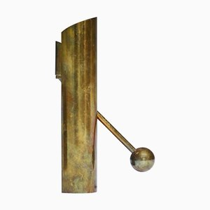 Adjustable Brass Candlestick by Pierre Forssell for Skultuna, 1970s