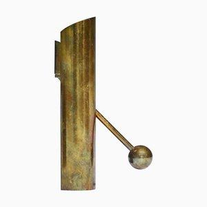 Candelero ajustable de latón de Pierre Forssell para Skultuna, años 70