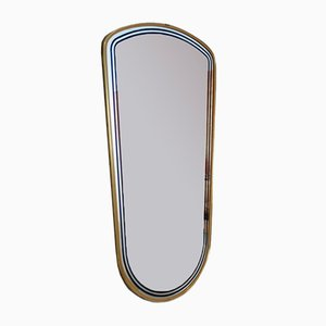 Französischer Mid-Century Spiegel mit Rahmen aus Messing