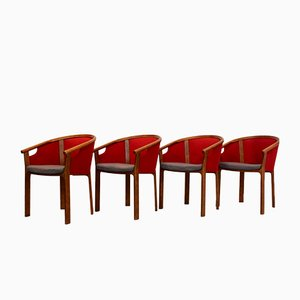 Teak Dining Chairs by Rud Thygesen & Johnny Sørensen for Magnus Olesen, 1980s, Set of 4