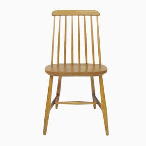 Mid-Century Swedish Slat Back Dining Chair from Nesto