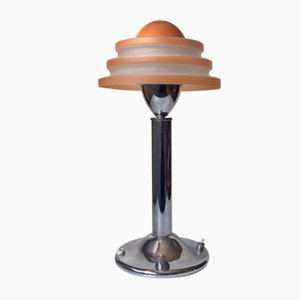 Lámpara de mesa Fried Egg danesa Art Déco de Fog & Morup, años 30