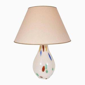 Italienische Murano Glas Tischlampe von Dino Martens für Aureliano Toso, 1960er