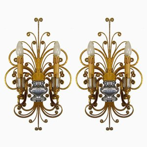 Vintage Wall Sconces, Set of 2