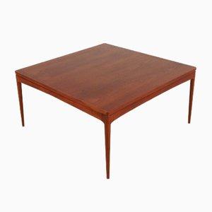 Tavolino da caffè quadrato in teak, anni '60