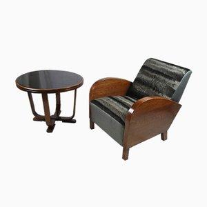 Maßgefertigter Mid-Century Sessel & Couchtisch