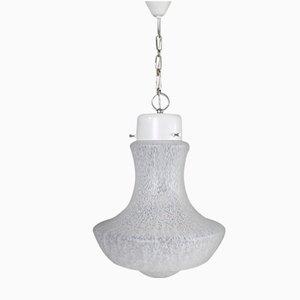 Lámpara colgante de cristal de Murano de Alfredo Barbini, años 60
