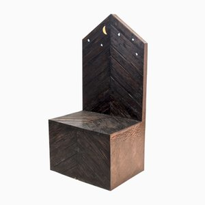 Sedia Trono in legno di Sandro Lorenzini, anni '80