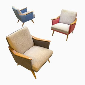 Fauteuils Multicolores, 1960s, Set de 3