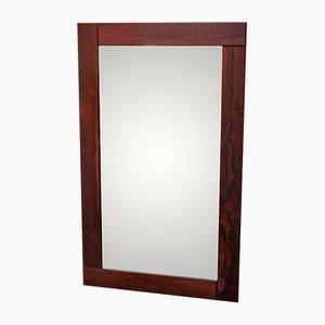 Espejo grande con marco de madera maciza, años 60