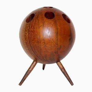 Candelabro vienés de madera, años 50