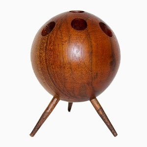 Viennese Wooden Candle Holder, 1950s