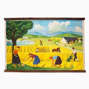 Póster educativo Harvest Time de H.W. Türk, 1919