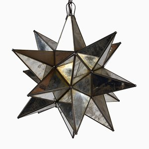 Starburst Mirrored Pendant, 1980s