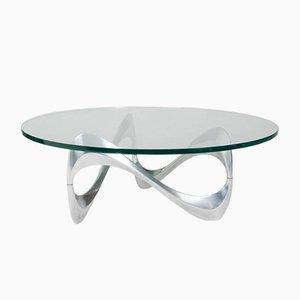 Table Basse en Aluminium et Verre par Knut Hesterberg pour Ronald Schmitt, 1960s