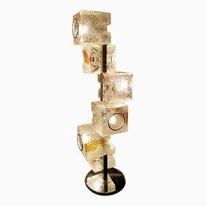 Lámpara de pie de cristal de Murano de Tomaso Buzzi para Venini, años 30