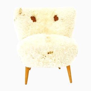 Chaise avec Peau de Mouton, Autriche, 1950s