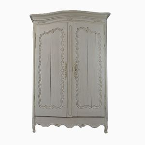 Antique Large French White Cabinet