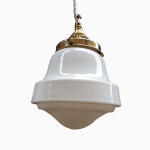 Art Deco Opaline Pendant Light