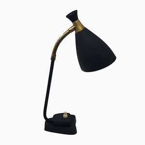 Swedish Black Desk Lamp from AJH Company, 1950s