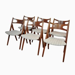 CH29 Chairs by Hans Wegner for Carl Hansen, 1950s, Set of 6