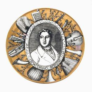 Vintage Grandi Maestri Plate by Piero Fornasetti