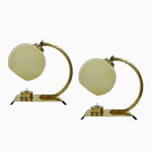 Lampes de Bureau Art Déco, 1930s, Set de 2
