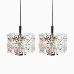 Modern Chandeliers from Kinkeldey, 1970s, Set of 2