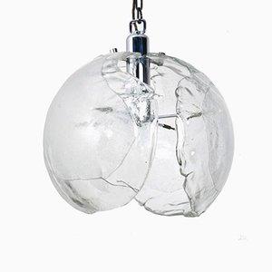 Lámpara colgante de cristal de Murano soplado de Kaiser, años 70