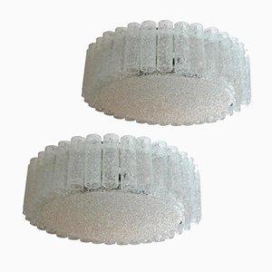 Große Glas Deckenlampen von Doria, 1960er, 2er Set