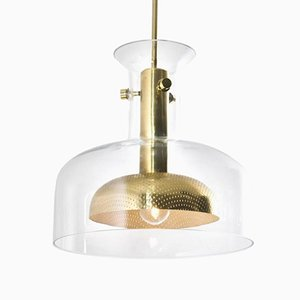Glass Pendant Light by Anders Pehrson for Ateljé Lyktan, 1968