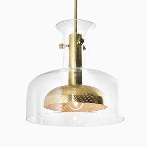 Lámpara colgante de vidrio de Anders Pehrson para Ateljé Lyktan, 1968