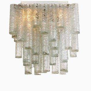 Lámpara de araña cuadrada de Doria Leuchten, años 60