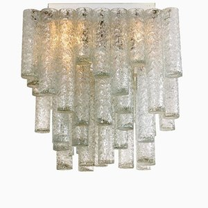 Square Flush Mount Chandelier from Doria Leuchten, 1960s