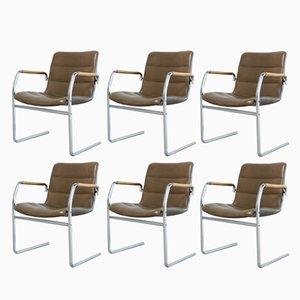 Chaises Cantilever Vintage par Jorgen Kastholm pour Kusch + Co, Set de 6