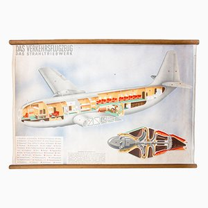 Educational Chart of an Airplane, 1952