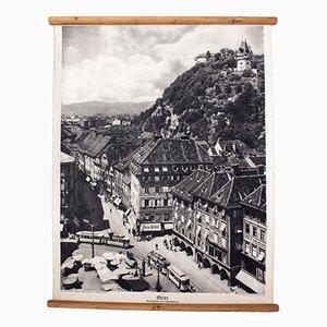 Lithografie von Graz, 1929