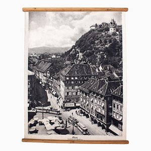 Litograph of Graz, 1929