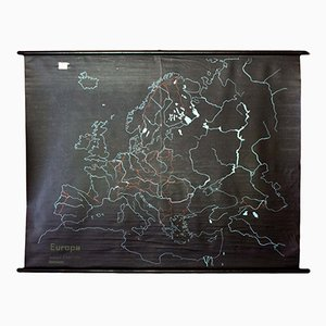 Slate & Rubber Map of Europe, 1968